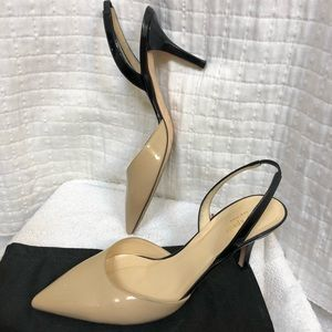Kate Spade Vero Cuoio Nude and Black sling back